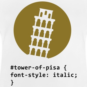 CSS ordlek: The Tower of Pisa Långärmade T-shirts - Baby-T-shirt