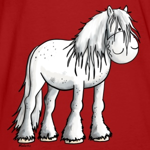 Funny white Shire Horse Hoodies - Men's Organic T-shirt