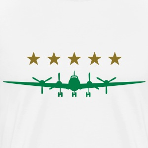 Propeller aircraft  Aprons - Men's Premium T-Shirt