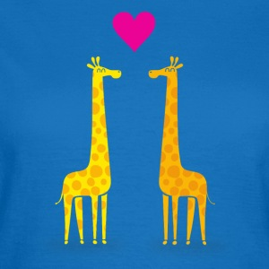 Funny & Cute Giraffes Couple in Love (Heart) Bags & Backpacks - Women's T-Shirt