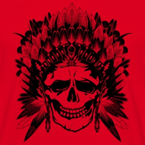 Indian Chief Skull Mugs & Drinkware - Men's T-Shirt