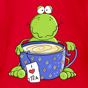 Tea Time Frog Shirts - Organic Short-sleeved Baby Bodysuit