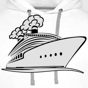 travel steamer ship vacation T-Shirts - Men's Premium Hoodie