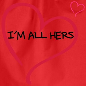 Couple I am all Hers T-shirts - Sportstaske