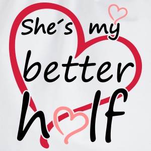 Couple Shes my Better Half T-shirts - Sportstaske