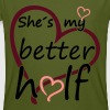 Couple Shes my Better Half T-Shirts - Men's Organic T-shirt