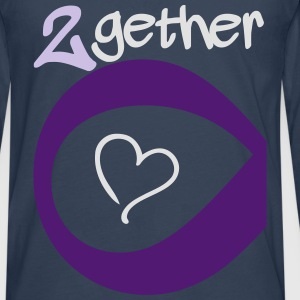 Couple Together forever Infinity T-Shirts - Männer Premium Langarmshirt