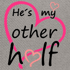 Couple He is my Other Half Camisetas - Gorra Snapback