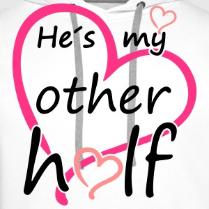 Couple He is my Other Half T-skjorter - Premium hettegenser for menn