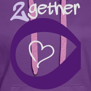 Couple Together forever Infinity Camisetas - Sudadera con capucha premium para mujer