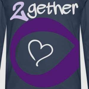 Couple Together forever Infinity T-shirts - Långärmad premium-T-shirt herr