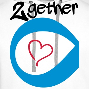 Couple Together forever Infinity T-shirts - Premiumluvtröja herr