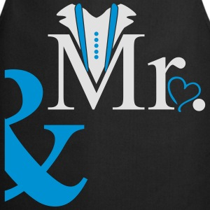 couple Mister Heart T-Shirts - Cooking Apron