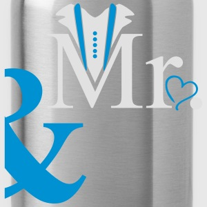 couple Mister Heart T-Shirts - Water Bottle