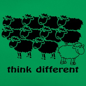 Think different le mouton noir au milieu des blanc - Sac Retro