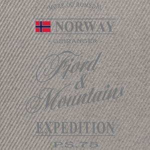 Norway - Fjord & Mountains Pullover & Hoodies - Snapback Cap