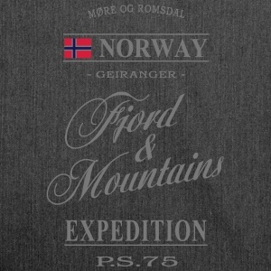 Norway - Fjord & Mountains Pullover & Hoodies - Schultertasche aus Recycling-Material