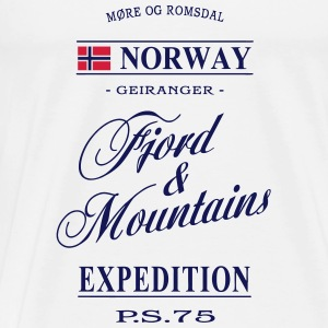 Norway - Fjord & Mountains Long Sleeve Shirts - Men's Premium T-Shirt
