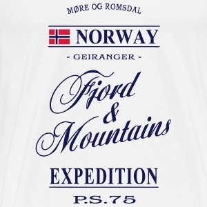 Norway - Fjord & Mountains Toppe - Herre premium T-shirt