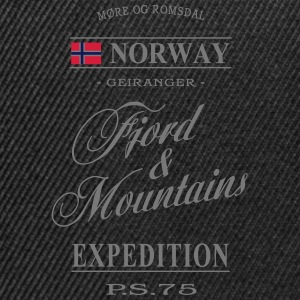 Norway - Fjord & Mountains T-Shirts - Snapback Cap