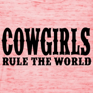 Cowgirls Rule the World T-Shirts - Women's Tank Top by Bella
