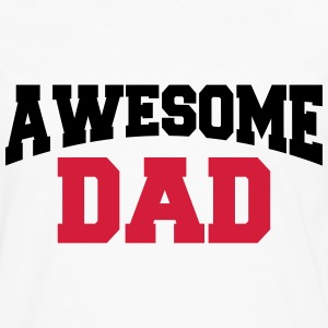 Awesome Dad T-shirts - Herre premium T-shirt med lange ærmer