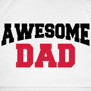 Awesome Dad Langarmshirts - Baseballkappe