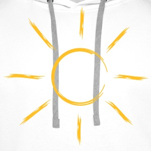 sun sunbeam summer vacation T-Shirts - Men's Premium Hoodie