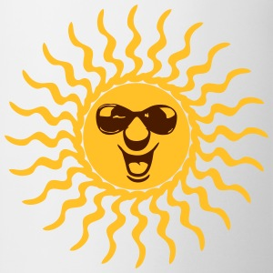 sun sunbeam summer vacation sunglasses T-Shirts - Mug