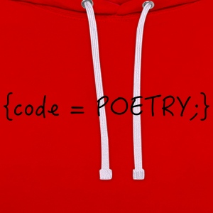 Code is poetry - Kontrast-Hoodie