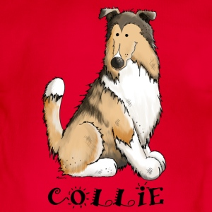 feliz Collie de pelo largo - Rough Collie Camisetas - Body orgánico de maga corta para bebé