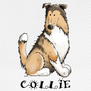 feliz Collie de pelo largo - Rough Collie Manga larga - Gorra béisbol