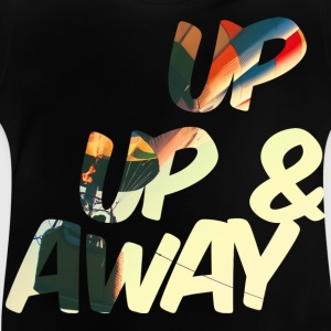 Noir up up and away Tee shirts - T-shirt Bébé
