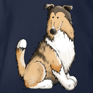 Collie Cleo - Rough Collie Manga larga - Body orgánico de maga corta para bebé