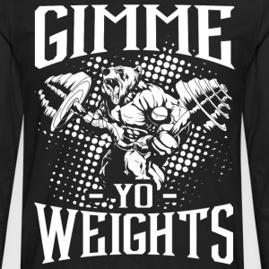 Gym Weights Sports Quotes - Men's Premium Longsleeve Shirt
