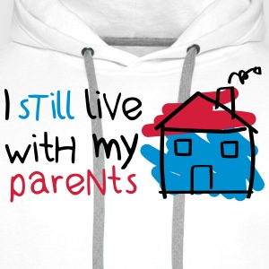 I still live with my parents Baby Bodysuits - Men's Premium Hoodie