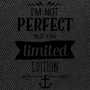 I'm Not Perfect But I`m Limited Edition T-Shirts - Snapback Cap