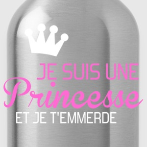 je suis une princesse et je t'emmerde Hoodies & Sweatshirts - Water Bottle