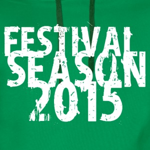 Kelly green festival design 2015 T-Shirts - Men's Premium Hoodie