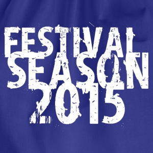 Royal blue festival design 2015 T-Shirts - Drawstring Bag