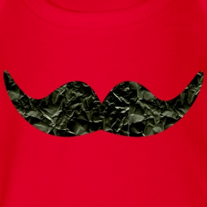 Mustache made of paper (b) Shirts - Organic Short-sleeved Baby Bodysuit
