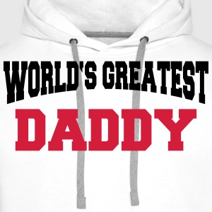 World's greatest Daddy Koszulki - Bluza męska Premium z kapturem