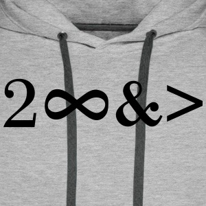 To Infinity and beyond! Love, Valentines Day, Math - Männer Premium Hoodie
