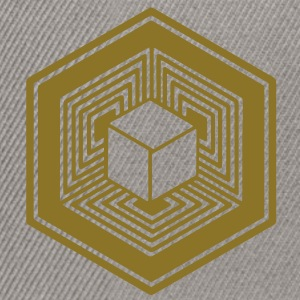TESSERACT, Hypercube 4D, Crop Circle, 17th July 2010, Fosbury, Wiltshire, Symbol - Dimensional Shift T-skjorter - Snapback-caps