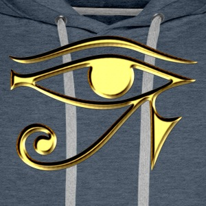 Horus eye,  protection amulet, magic & strength - Men's Premium Hoodie