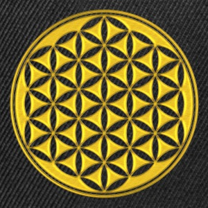 kwiat życia - Flower of life - gold - sacred geometry - power of balancing and energizing, energy symbol Koszulki - Czapka typu snapback
