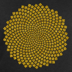 Sunflower Seed, digital gold,  Fibonacci spiral, Golden cut, Golden angle T-shirts - Sweatshirt herr från Stanley & Stella