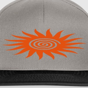 SUN SYMBOL with spiral, healing symbol, heart opener, T-Shirts - Snapback Cap