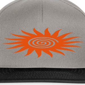 SUN SYMBOL with spiral, healing symbol, heart opener, T-shirts - Snapbackkeps