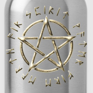 Runes pentagram, pentacle, protection, paganism Camisetas - Cantimplora